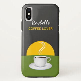 Cup Green Gray Cafe Morning Coffee Lovers Slim iPhone X Case