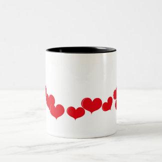 Cup Group of hearts Two-Tone Coffee Mug