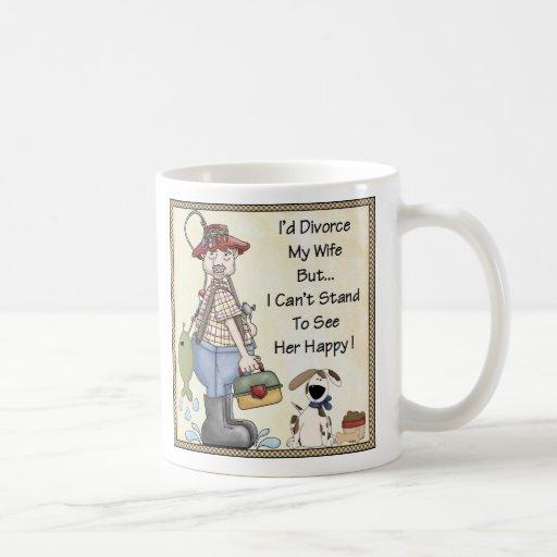 Cup- I divorced my wife.....Funny Classic White Coffee Mug