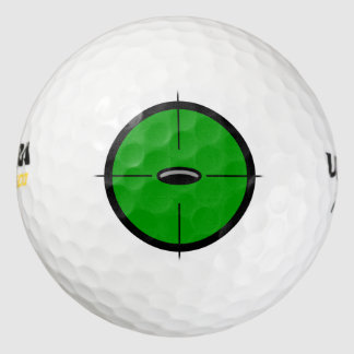 Cup in the Crosshairs Golf Ball