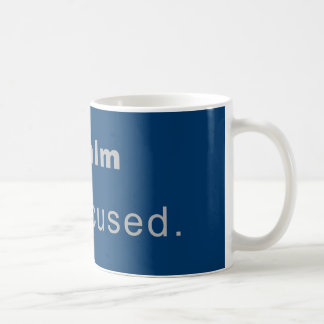 Cup keep Calm, Stay Focused Classic White Coffee Mug