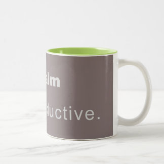 Cup Keep Calm, Stay productive with green interior Mugs