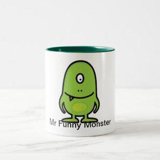 Cup Mr Funny Monster Two-Tone Coffee Mug