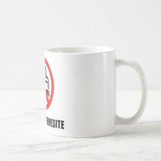 Cup nonsmoking classic white coffee mug