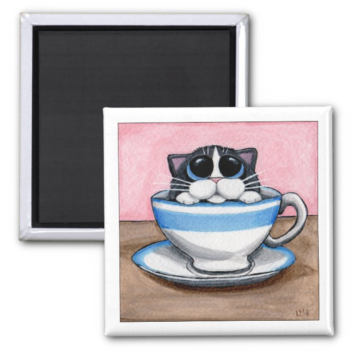 Cup O Kitty Magnet