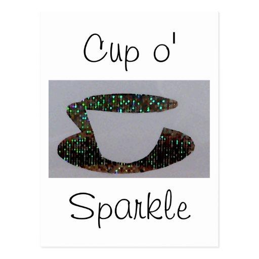 """""""Cup o' Sparkle""""  CricketDiane Art & Design Postcard"""