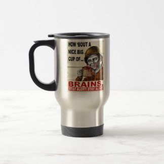 Cup of Brains 15 Oz Stainless Steel Travel Mug