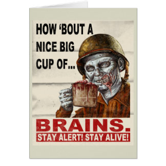 Cup of Brains Card