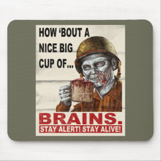 Cup of Brains Mouse Pads