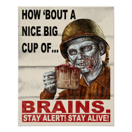 Cup of Brains Poster