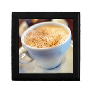 Cup of cappuccino jewelry box