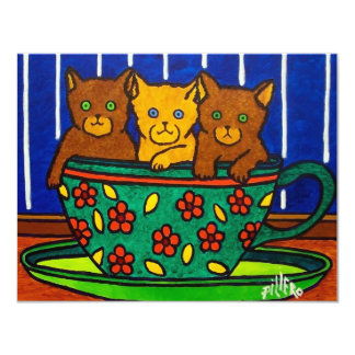 Cup of Cats by Piliero Card