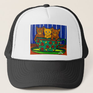 Cup of Cats by Piliero Trucker Hat
