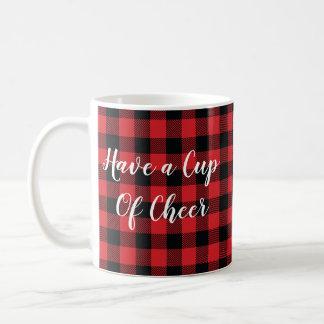 Cup of Cheer Buffalo Check Mountain Coffee Mug