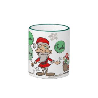 """Cup of """"Christmas desires """" Ringer Coffee Mug"""