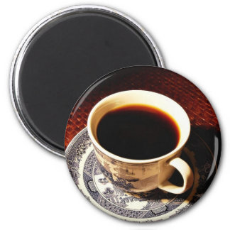 Cup Of Coffee 2 Inch Round Magnet