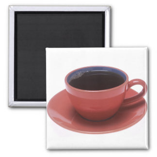 Cup of Coffee 2 Inch Square Magnet