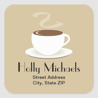 Cup Of Coffee Address Sticker