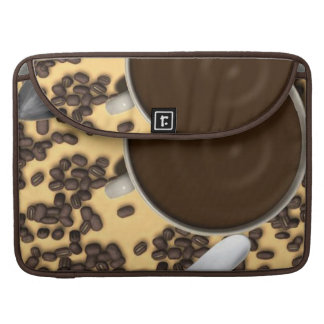 Cup Of Coffee and Coffee Beans Sleeves For MacBook Pro