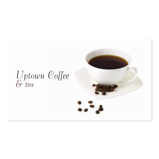 Cup of Coffee and Tea Business Card
