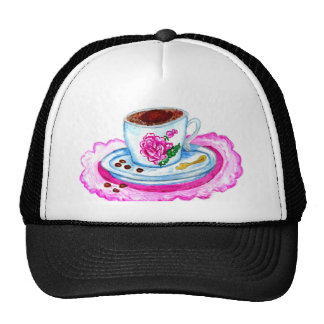 Cup of Coffee Art Trucker Hat