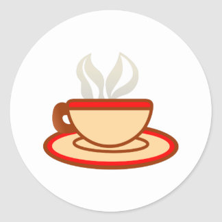 Cup Of Coffee Classic Round Sticker