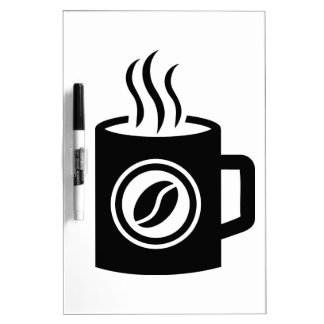 Cup of coffee dry erase board
