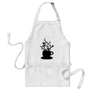 Cup of coffee - hand drawn artwork adult apron