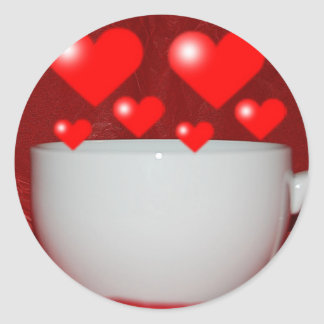 Cup Of Coffee Heart Sticker
