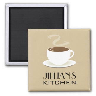 Cup Of Coffee Kitchen Magnet