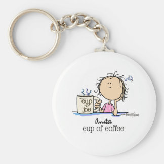 Cup of Coffee - Lady Keychain