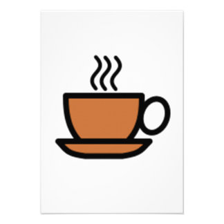 Cup of Coffee Personalized Invite
