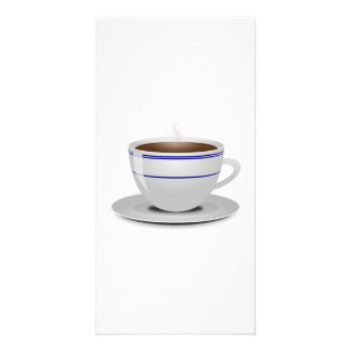 Cup of Coffee Personalized Photo Card