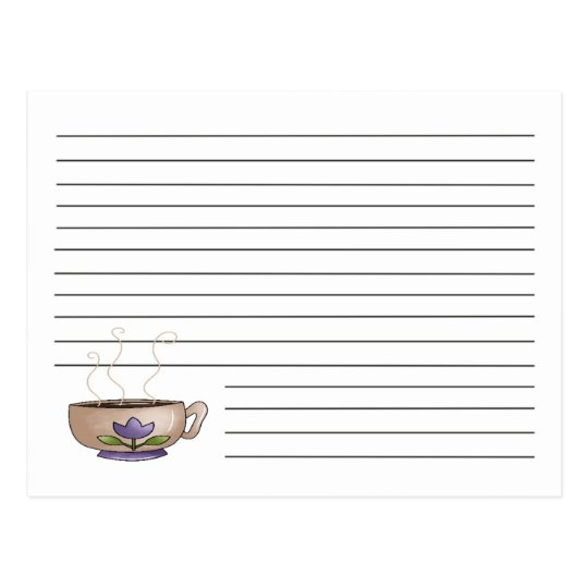 Cup Of Coffee Recipe Card