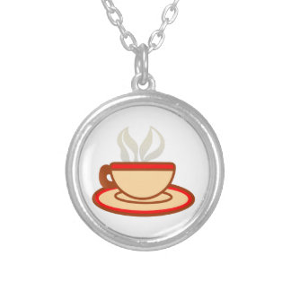 Cup Of Coffee Silver Plated Necklace