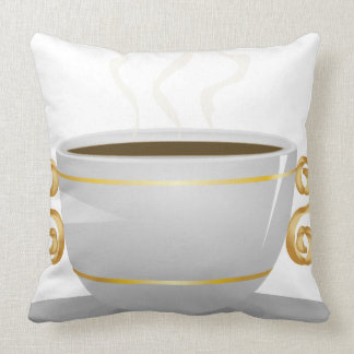 Cup of coffee throw pillow