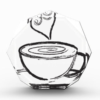 Cup of Coffee with Love Abstract Illustration Acrylic Award