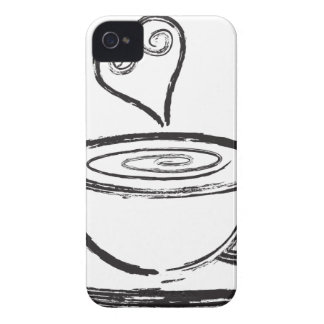 Cup of Coffee with Love Abstract Illustration iPhone 4 Covers