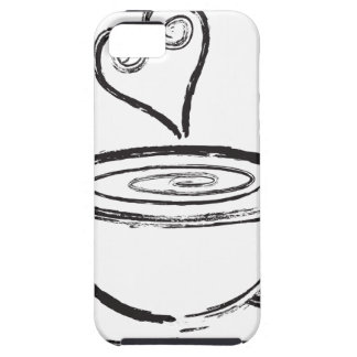Cup of Coffee with Love Abstract Illustration iPhone SE/5/5s Case