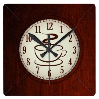 Cup of Coffee Wood Wall Clock