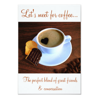Cup Of Heart Coffee - Coffee Time Invitation