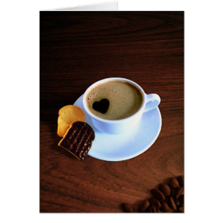 Cup Of Heart Coffee - Greeting Card