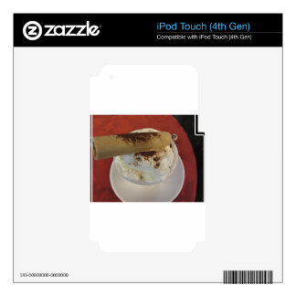 Cup of hot chocolate with whipped cream topping decals for iPod touch 4G