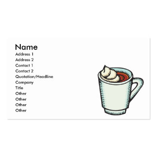 cup of hot cocoa with whipped cream Double-Sided standard business cards (Pack of 100)