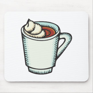 cup of hot cocoa with whipped cream mouse pad