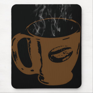 cup of hot coffee mouse pad