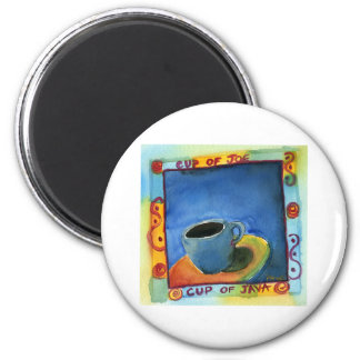 Cup of Java Cup of Joe 2 Inch Round Magnet