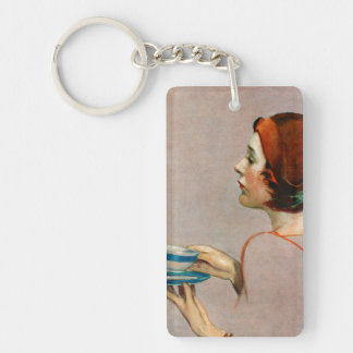 Cup of Java Double-Sided Rectangular Acrylic Keychain