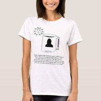 cup of joe, female silhouette. T-Shirt