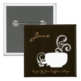 Cup Of Joe Name Badge Button